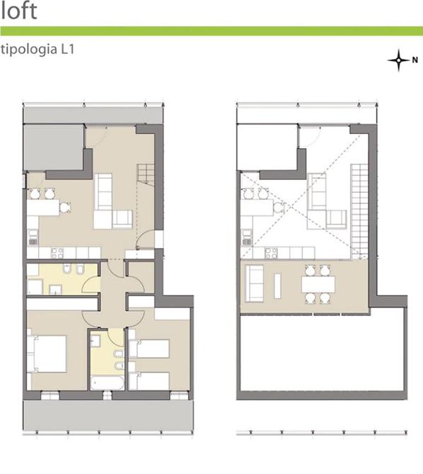 Orizzonti brescia loft for Garage con piani loft gratuito
