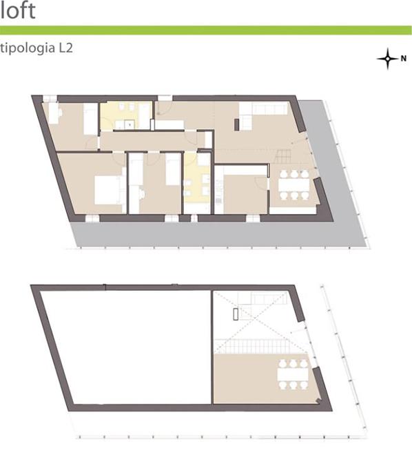 Orizzonti brescia loft for 2 bay garage con soppalco